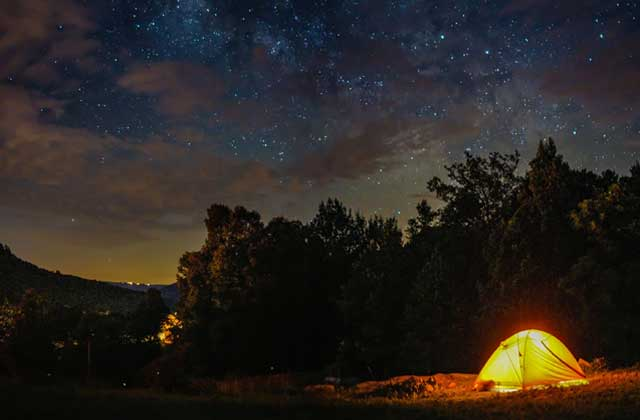 camping near war eagle mill